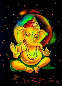 LORD GANESHA  Original and Unique Psychedelic Art Hand