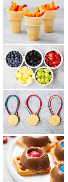 Love these snack and dessert ideas for the Olympics! So fun! (dessert ideas for party favorite things) Dessert Party, Party Desserts, Parties Food, Kid Parties, Kids Olympics, Summer Olympics, 2020 Olympics, Special Olympics, Kids Meals
