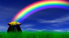 Rainbow God's Gold of Rainbow always combined with Rainbow Nature God's ones, always forever & ever Rainbow. 😉❤💛💚💙🌈