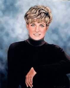 Oil painting of Princess Diana by Sheila Ninowski