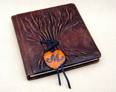 Brown Rustic Leather Journal, Tree of Life, Personalized on Etsy, $32.00