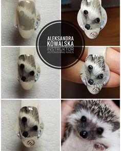 Фотография Anime Nails, Nails First, Disney Nails, Uv Gel Nails, Nail Tutorials, Wall Photos, Hedgehog, Nailart, Nail Designs