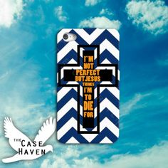 Jesus Cross I'm Not Perfect But Jesus Thinks I'm by TheCaseHaven, $14.99