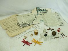 STEAMPUNK COLLAGE & ALTERED ART ITEMS!    26 RUSTY, DUSTY, AND USED ITEMS!    VARIOUS SIZES!    VARIOUS CONDITIONS!