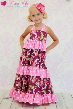"""""""Julia's Tiered Maxi Dress"""", I found this on You Can Make This.com.  Love it !"""