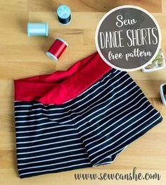 How to sew dance shorts - free sewing pattern! @makeitcoats #eloflexthread #makeitcoats