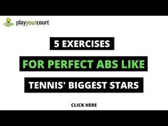 Get Perfect Abs Like the Tennis Stars With These 5 Moves