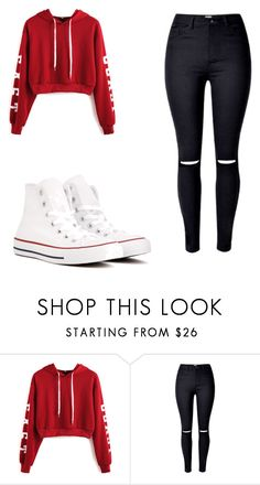 """Weekend finally"" by paigesharp12 ❤ liked on Polyvore featuring WithChic and Converse"