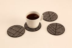 felt_coasters_cup Felt Coasters, Properties Of Materials, Architecture Design, Pure Products, Tableware, Material Properties, Architecture Layout, Dinnerware, Dishes