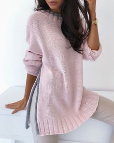 Trend Fashion, Knit Fashion, Sweater Fashion, Lolita Fashion, Fashion Fashion, Fashion Dresses, Wedding Dress Sleeves, Long Sleeve Wedding, Sleeve Dresses