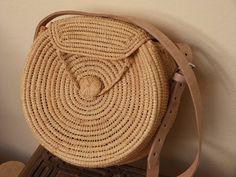 sac en paille circulaire, raphia sac cabas d'été, sac panier rond, rond épaule, rotin ronde sac sac en raphia, ata bagmarket, français panier