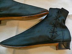 1860 's Victorian Civil War Era Black Side Lacing Boots Shoes | eBay
