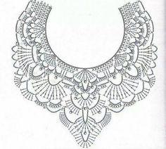 47 Ideas Crochet Lace Collar Accessories For 2019 - irish crochet Crochet Collar Pattern, Col Crochet, Crochet Lace Collar, Crochet Diagram, Thread Crochet, Irish Crochet, Crochet Motif, Crochet Shawl, Crochet Stitches