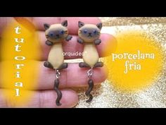 Siamese Kitty Cat polymer clay dangle earrings tutorial