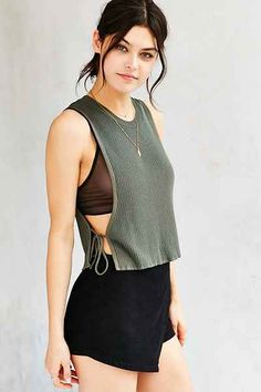 Kimchi Blue Tie It Up Tank Top - Urban Outfitters