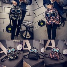 Fashion Womens Sunglasses Camouflage Pu Leather Backpack Ladies Casual Travel Daypack Girls Kids School Bag Bookbag School Bags Messenger Bags From Happytraveltime, $27.14| Dhgate.Com