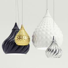 Ruskii + Ruskii twist suspension lamps from Enrico Zanolla