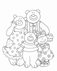 Goldilocks and the Three Bears Coloring Page Best Of Free Dearie Dolls Digi Stamps Goldilocks and the Three Bears Bear Coloring Pages, Preschool Coloring Pages, Coloring Pages To Print, Free Printable Coloring Pages, Rhyming Preschool, Bears Preschool, Preschool Books, Story Sack, Goldilocks And The Three Bears