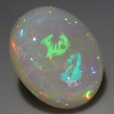 Minerals and Crystals — Holographic White Hydrophane Opal - Welo, Ethiopia