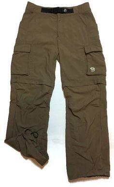 MOUNTAIN HARDWEAR Zip-off Pants Small Cargo Convertible Shorts Nylon Hiking   | eBay