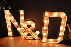 Letras gigantes boda N+D