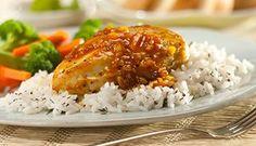 Poulet sauté à l'orange et aux épices accompagné de riz #recettesduqc #souper #poulet