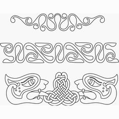 Celtic designs. Love how you could make the middle one into a word.