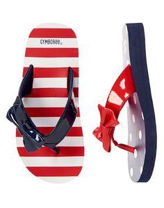 Patriotic Bow Flip Flops at Gymboree