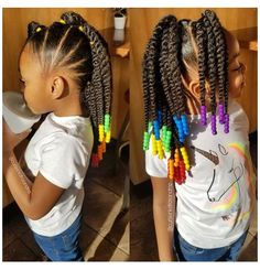 Little Girls Natural Hairstyles, Toddler Braided Hairstyles, Kids Curly Hairstyles, Hairstyles For Black Kids, Girl Haircuts, Mixed Baby Hairstyles, Little Girl Braid Hairstyles, Childrens Hairstyles, Hairstyles Videos