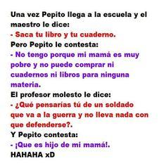 Enigmática Mazda 6 dice que. Pepito Jokes, Funny Images, Funny Pictures, Spanish Jokes, Humor Mexicano, Frases Humor, Funny Phrases, I Love To Laugh, Disney Fun