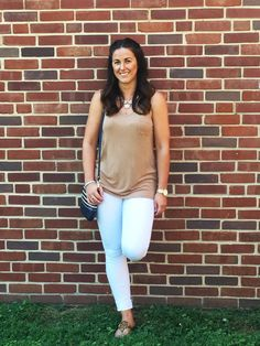 I am loving the neutral on neutral look and this top is only $6.93 and it comes in 3 colors! Hurry before it sells out!
