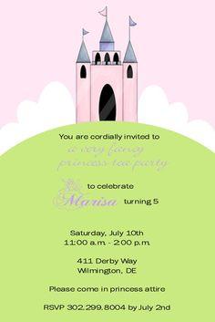 Liz N's Birthday / - Photo Gallery at Catch My Party Princess Tea Party, Princess Birthday, Girl Birthday, Birthday Stuff, Birthday Ideas, Sofia Party, Party Invitations, Invite, Tea Party Birthday