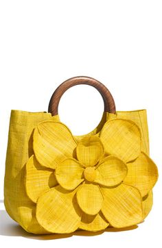Mar y Sol 'Guadalupe' Straw Shopper Sunflower One Size Yellow Sunflower, Sunflower Canvas, Yellow Flowers, Cute Purses, Shades Of Yellow, Happy Colors, Mellow Yellow, Color Yellow, Bead Crochet