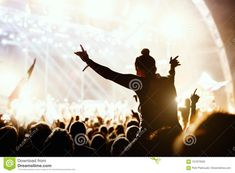 Photo about Girl enjoying the outdoor music festival concert. Image of open, night, defocused - 101973559 Music Festivals, Night, Concert, Outdoor, Image, Outdoors, Recital, Concerts, Outdoor Games