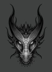 Spitfyah Dragon Head - Lawrence Mann – Digital Artist - A Elsanatı - . - Spitfyah Dragon Head – Lawrence Mann – Digital Artist – A Elsanatı – … – Style - Dragon Tattoo Drawing, Dragon Head Tattoo, Dragon Tattoo Designs, Dragon Drawings, Drawings Of Dragons, Cute Dragon Drawing, Tribal Dragon Tattoos, Flower Art Drawing, Gargoyle Tattoo