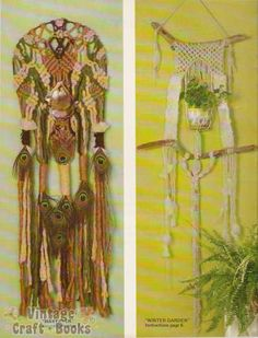 Macrame Wall Hangings with Weaving Pattern Booklet 1976