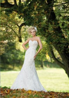 Justin Alexander style 8605 in a stunning pose in Issue 1/2012 of Panna Mloda.  www.justinalexanderbridal.com/wedding_dresses/8605