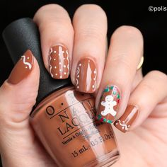Nail art │ Christmas preprations: Biscuits on my nails! [26GNAI]