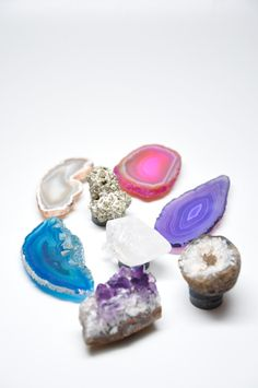 Gemstone Magnet Set - I adore little gemstones. This set is for sale and would add a nice sparkle to things. (Someone like me who already has some pretty gemstones could easily DIY.)