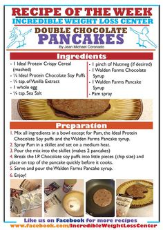 Ideal Protein Double Chocolate Pancakes