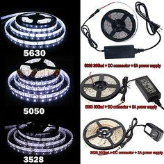 (If you choose DC Connector we will send you 5 Pcs DC connector, it do not included in power or strip). High Quality LED Strip, high intensity and reliability, Long lifespan. Rgb Led Strip Lights, Strip Lighting, Strings, White Lead, String Lights, Decoration, Seasonal Decor, Fans, Ebay
