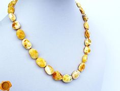 Amber Necklace, Beaded Necklace, Baltic Amber, Trending Outfits, Unique Jewelry, Handmade Gifts, Etsy, Vintage, Fashion