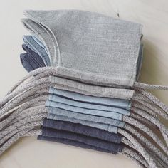 Reusable linen face masks. Filter pocket and nose wire. Handmade in Finland. 👋🏻🤍 Embroidery Bags, Modern Embroidery, Patchwork Pillow, Patchwork Bags, Filter, Recycled Denim, Linen Bag, Black Linen, Denim Fabric