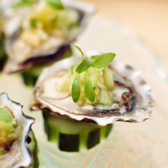 Morro Bay Pacific Gold Oysters with Melon and Cucumber Water - Creative Melon Recipes - Sunset Mobile