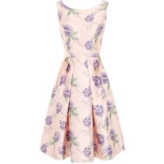 Chi Chi London Floral Digital Print Midi Dress ($81) ❤ liked on Polyvore featuring dresses, women, print dress, fit and flare midi dress, pink midi dress, vintage style dresses et pleated dress