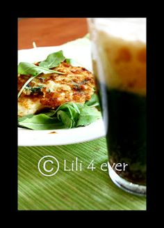 "The cauliflower ""placky"" (read platskey) ;) with dark beer"