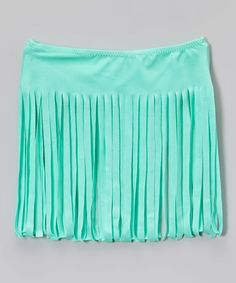 Love this Mint Fringe Cover-Up Skirt - Girls on #zulily! #zulilyfinds