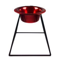 Platinum Pets Pyramid Diner Stand with 4-Cup Stainless Steel Bowl, Candy Apple Red *** New and awesome dog product awaits you, Read it now  : Feeding and Watering Supplies
