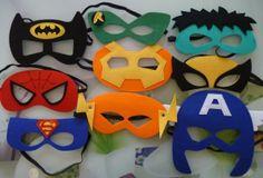 Captain America Spiderman Batman Hulk Robin Felt Eye Masks_1