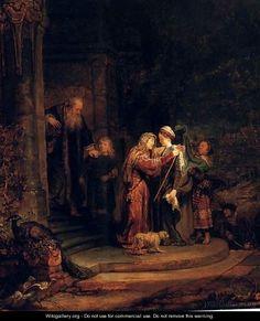 La Visitation,detroit 1640 - Rembrandt Van Rijn